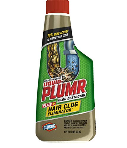 - Liquid-Plumr Pro-Strength Clog Remover, Hair Clog Eliminator, 32 Fluid Ounces Total (Pack of 2)
