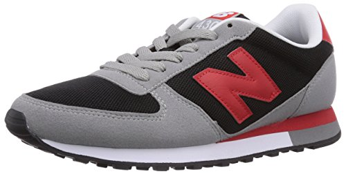 New Balance 70s Running 430, Sneakers Basses Mixte Adulte Gris/rouge