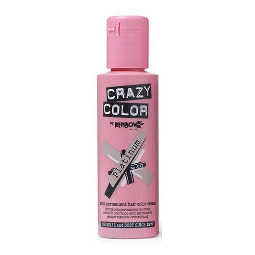 Crazy Color Crema Colorante Vegetale per Capelli, Platinum - 121 ml 002271