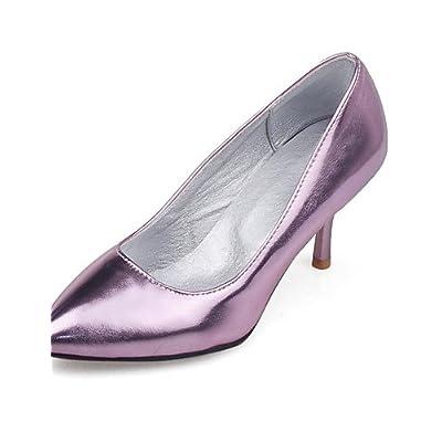 Ggx/femme Chaussures d'été/automne talons/Bout Pointu talons Robe Stiletto Talon d'autres Violet/argenté/doré
