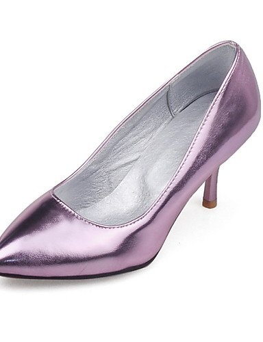 GGX/ Damen-High Heels-Büro / Lässig-PU-Stöckelabsatz-Absätze / Spitzschuh-Lila / Silber / Gold golden-us9 / eu40 / uk7 / cn41