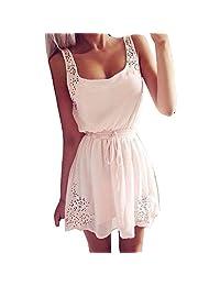 Tonsee Women's Sexy Summer Sleeveless Short Mini Dress