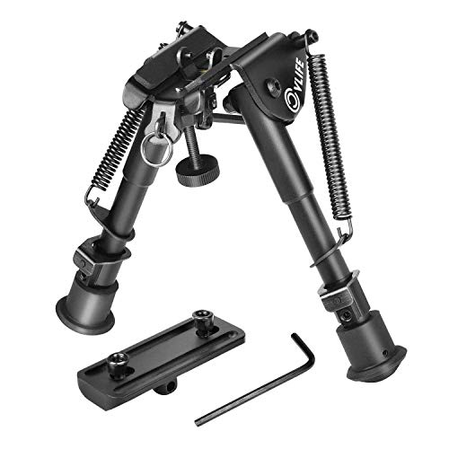CVLIFE Bipod Adjustable Spring Return with Keymod Mount Adapter 6-9 Inches (Ar Low Profile Gas Block)