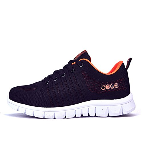 Leisure Black HOOH Up Running Shoes Walking Shoes Lace Athletic Fitness Knit Sports 77Ua4qw