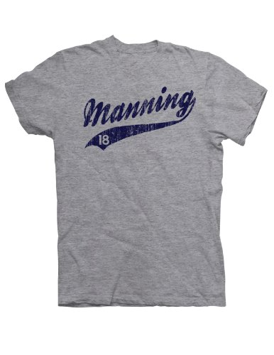 Manning 18 Distressed Print T-Shirt - Medium - Sport