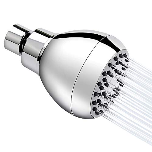 (Aisoso Shower Head High Pressure Fixed Rainfall Showerhead Powerful Rain Spray Against Low Water Pressure with Wall-Mounted Adjustable Swivel Joint, Chrome)