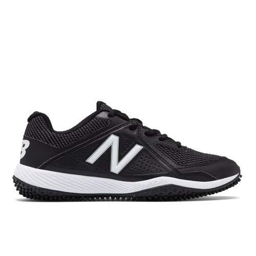 New Balance Boys' TY4040 Turf Baseball Shoe, Black, 2.5 M US Little Kid