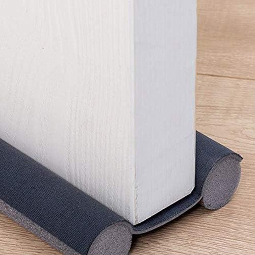 Rusisi Burlete de puerta ajustable gris bloqueador a prueba de sonido doble cara para mantener el aire caliente