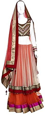 Lehenga Cholis For Women - Xl, Gold And Orange
