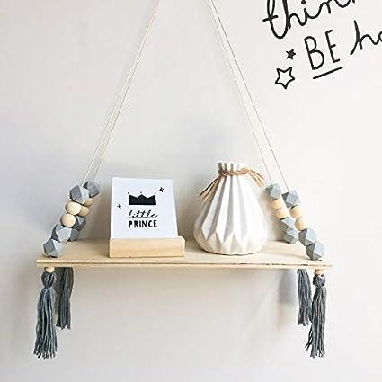 Funny Gift - Estantería para colgar en la pared, con cuerda ...