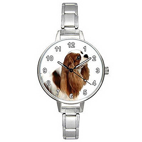 Spaniel Italian Charm Watch - BMTC801 Cavalier King Charles Blenheim Spaniel Italian Charm Mens Ladies Watch
