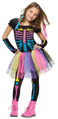 5 Matching Halloween Costumes - Fun World Funky Punk Bones Child's