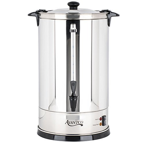 Coffee Urn,110 Cup (3 Gallon) Stainless - 3 Gallon Urn