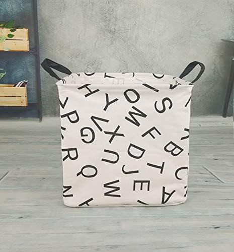 MZIMIK Square Storage Basket Collapsible Organizer Bin Waterproof Toy Box for Organizing Home/Dorm/Kitchen/Pet/Office/Closet/Shelf/Gift Baskets