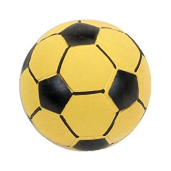 """Coastal Pet 3"""" Rascals Yellow Latex Soccer Ball for Puppies and Dogs"""