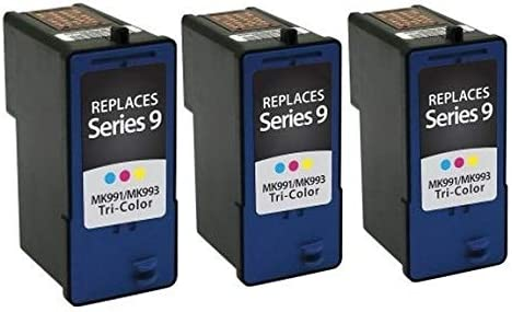 3CL926N Series 9 SuppliesMAX Compatible Replacement for Dell 926//V305//V305W Color Inkjet 3//PK