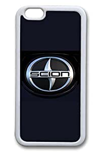 iPhone 4 4s Case - Thin Fit Protective White Soft Rubber Case Bumper for iPhone 4 4s Scion Car Logo 10 Slim Fit Soft Case for iPhone 4 4s es