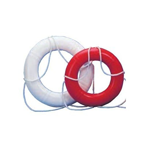 Dock Edge + Inc. USCGA Approved Life Ring Buoy (White, 24-Inch) by Dock Edge (Image #1)