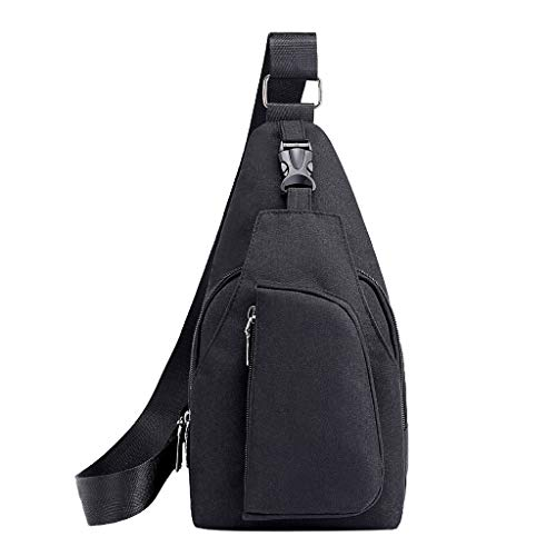 (NaditionFashion And Sample Oxford Lightweight Chest Bag Leisure Multifunction Crossbody For Men)