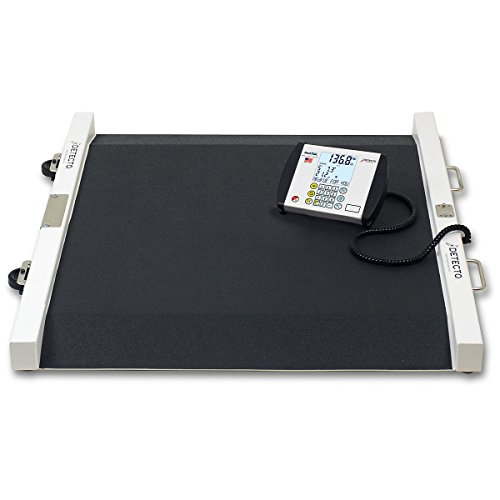 Detecto Portable Wheelchair Scale (Portable Painted Steel Bariatric Wheelchair Scale)
