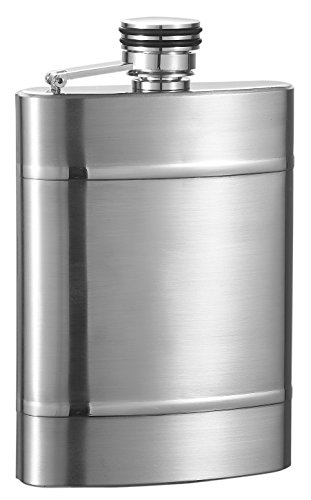 Visol Wickeln Brushed Stainless Steel Liquor Flask - 6 ounces
