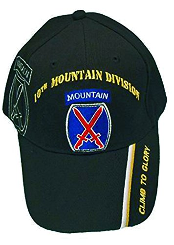 - U.S. Army Division and Brigade Baseball Caps Quality Embroidered Hats (10th Mountain Division Climb to Glory)