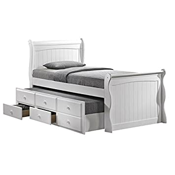 Captains White Bed with Storage and Guest Bed: Amazon.co.uk: Kitchen ...