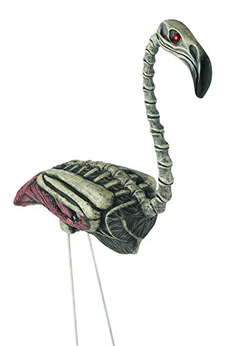 Forum Novelties 2 Foot Zombie Flamingo Lawn Ornament