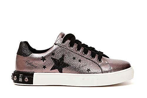 37 Sneaker E Donna Scarpe Stampa Grigio Borchie A Stelle Noir Dh911 Cafè Piombo Con xxCU4SqH6w