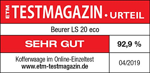 Beurer LS 20 P/èse Bagages /écologique sans batterie