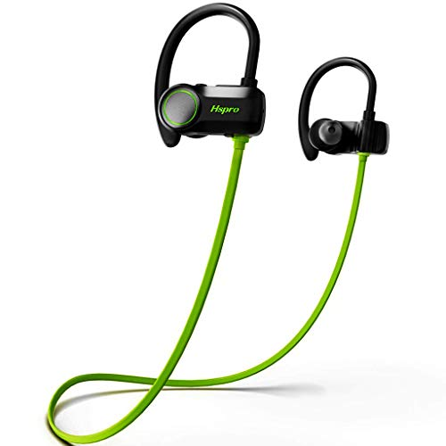 Bluetooth Headphones, HSPRO Wireless Earbuds, IPX7 Waterproof Running Headphones, CVC6.0 Noise Cancelling Sports Wireless Headphones with Mic for Gym Workout, 10 Hours Playtime