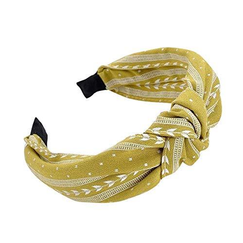 Women Headbands with Twist Knot NEEKEY Fashion Bow Knot Wide Headband Elastic Head Hoop Simple Sweet Hair Accessories