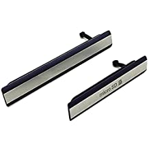 Sim Card Slot Cover - SODIAL(R)For Sony Xperia Z2 D6502/3 Micro SD+USB Sim Card Slot Port Cover Cap Black