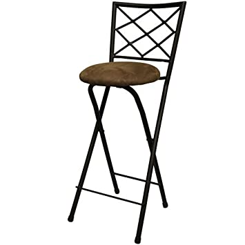 Excellent New 30 Folding Bar Stools In Bronze With Cushioned Seat For Dining And Kitchen Uwap Interior Chair Design Uwaporg