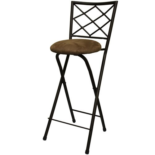 Amazon New folding bar stools in bronze with cushioned seat for dining and kitchen Kitchen Dining