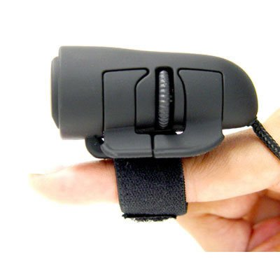 Usb 2 Button Wheel (HDE Ergonomic USB 2.0 Optical 3-Button Finger Mouse with 1200 DPI for PC/Mac)