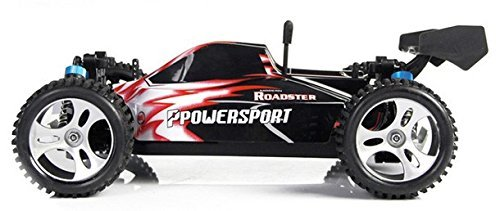 1:18 scale WL RTR 4WD Buggy Red with 2.4 GHz radio, an astounding 35 MPH speed, proportional speed and steering