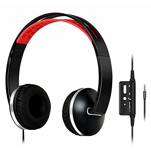 Zology Active Noise Cancelling Headphones Come with Protective Carry Case,On-Ear with Mic,Comfortable,Lightweight and Foldable