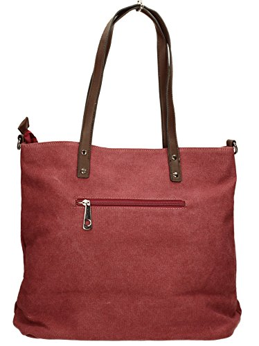Burgundy Shoulder Medium Red Canvas Lauren Star SWANKYSWANS Bag Womens zwqP8Pf
