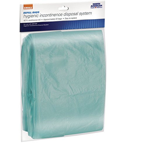 North American Refill Bags for Hygienic Incontinence Diaper Garbage Can Disposal System