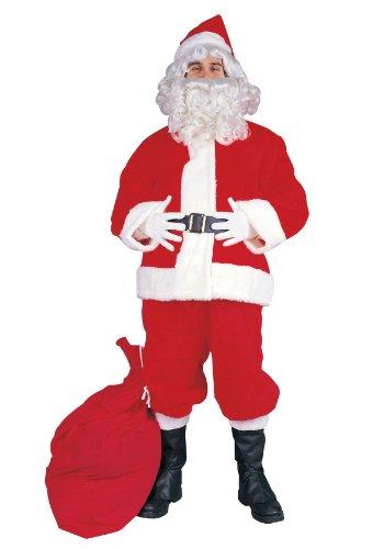 RG Costumes Men's Plus-Size Santa Claus Suit, Red, X-Large