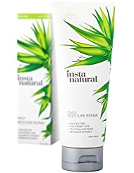 Daily Moisture Repair - Organic & Natural Facial Moisturizer For Face, Hands & Neck - Hydrate & Defend Against Dry Skin - Replenishing Formula With Shea Butter & Hyaluronic Acid - InstaNatural - 3.4OZ