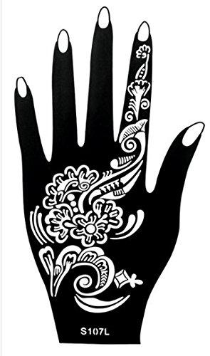 6 Sheets Stencils Tattoo Set 6 Mehndi Templatetattoo Henna Designs