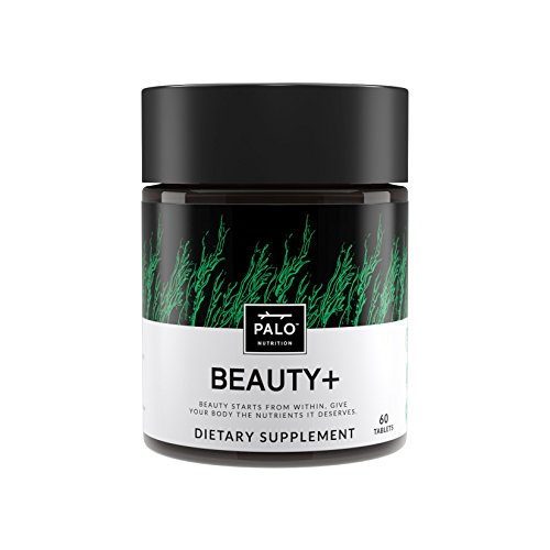 Beauty+ Dietary Supplement for Hair Nails and Skin, 60 Tablets, All-Natural Biotin, Zinc, Vitamin C and Vitamin A, Made in The USA ()
