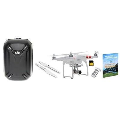 DJI Phantom 3 Standard Quadcopter Aircraft with 2.7k Camera Super Bundle, w/Spare Battery + 32GB MicroSDHC Card + Extra DJI Self Tightening Propeller Set + DJI Training + DJI Hardshell Backpack