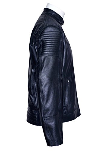 Oblivion 1829 Fashion Designer noir Biker Soft Style matelassée en cuir Jacket