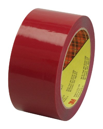 Scotch Box Sealing Tape 373 Red, 48 mm x 50 m, High Performance, Conveniently Packaged (Pack of ()