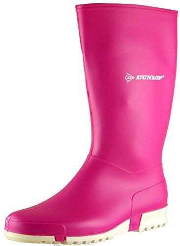 Dunlop - Botas de agua de trabajo mujer Rosa - rosa