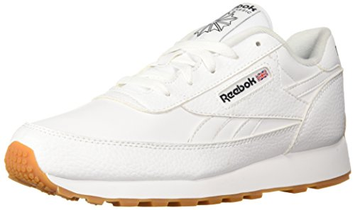 Reebok Men's Classic Renaissance Fashion Sneaker, White/Black/Gum, 8 M US (Mens Leather Walking Shoes Classic)