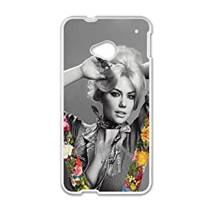 Celebrities Kate Upton V Magazine HTC One M7 Cell Phone Case White phone component AU_505181